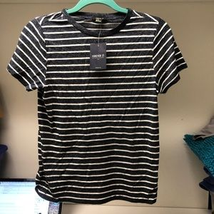 Forever 21 Blue Striped T-Shirt NWT